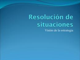 Resolución de situaciones
