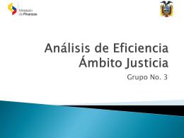 Análisis de Eficiencia ámbito Judicial