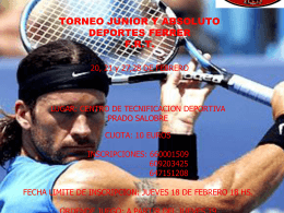 Torneo Dede Intersport Junior y absoluto