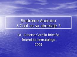 Síndrome Anémico - Fisiopatología y Patología |