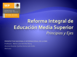 Reforma Integral de Educación Media Superior