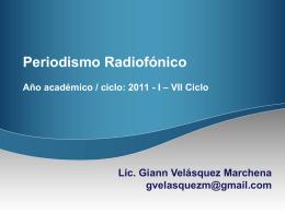 PowerPoint template - Periodismo Radiofónico