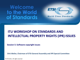 ITU Workshop on Standards and Intellectual