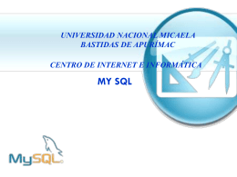 ¿QUÉ ES MySQL?