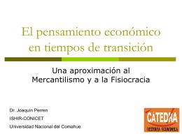 El pensamiento económico en tiempos de transición
