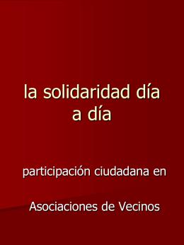 la solidaridad día a día