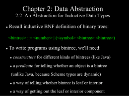 Chapter 2: Data Abstraction 2.2 An Abstraction for
