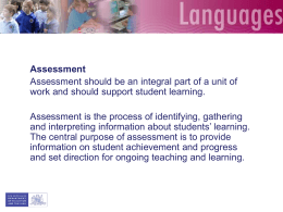 Implementation of the new languages syllabuses K-6