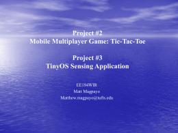 Project #2 Mobile Multiplayer Game: Tic-Tac