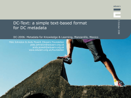 DC-Text: a simple text-based format for DC