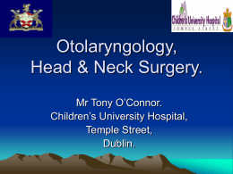 Otolaryngology, Head & Neck Surgery.