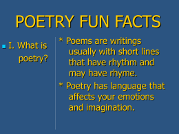 POETRY FUN FACTS