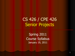Senior Projects 2011