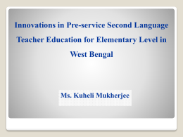 Innovations in Pre-service Second Language Teacher