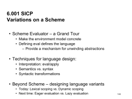 Variations on a Scheme