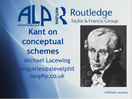 Kant on conceptual schemes