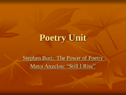 Poetry Unit - Edwardsville School District