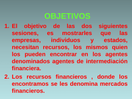 La Intermediación Financiera
