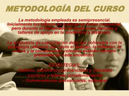 METODOLOGÍA DEL CURSO