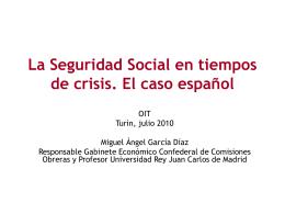 La Seguridad Social en tiempos de crisis. El caso