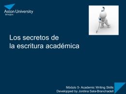 Los secretos de la escritura académica