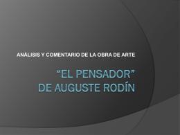 """EL PENSADOR"""" DE AUGUSTE RODÍN"""