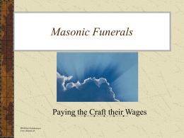 Masonic Funerals - Grand Lodge of Minnesota