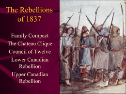 The Rebellions of 1837
