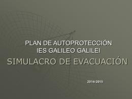 I.E.S. Galileo Galilei. Simulacro de evacuación