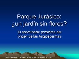 Parque Jurásico: ¿un jardín sin flores?