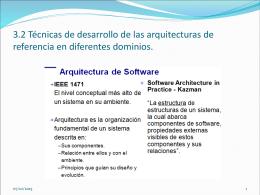 3.2 Técnicas de desarrollo de las arquitecturas de
