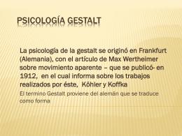 Psicología Gestalt - Campus Virtual | Página