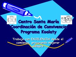 Centro Santa María Coordinación de convivencia