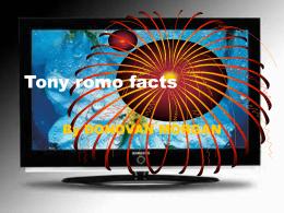 Tony romo facts