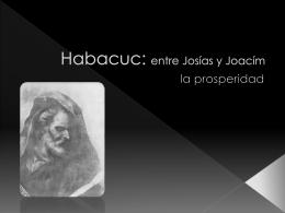 Habacuc: entre Josías y Joacím