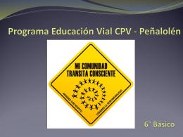 Programa Educación Vial Colegio Pedro de Valdivia