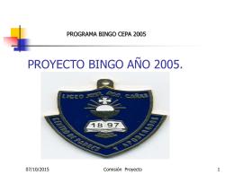 """BINGO AÑO 2001 """"Liceo José Domingo Cañas"""""""