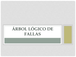 ÁRBOL LÓGICO DE FALLAS