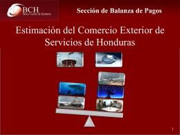 Estimación del Sector Servicios de Honduras -