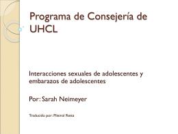 Programa de Consejería de UHCL