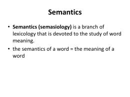 Semantics - Kafkas Üniversitesi