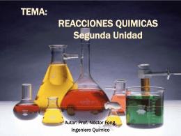 Tema: Reacciones Químicas