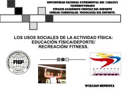 LOS USOS SOCIALES DE LA ACTIVIDAD FÍSICA: