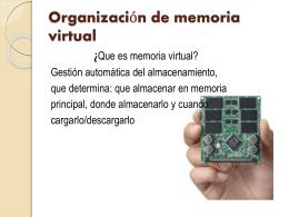 Organización de memoria virtual