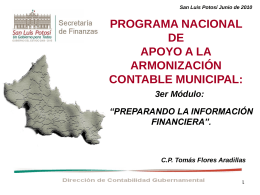 Diapositiva 1 - Secretaría de Finanzas
