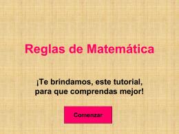 Reglas de Matemática