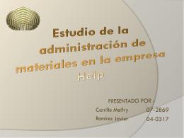 Estudio de la administración de materiales en la