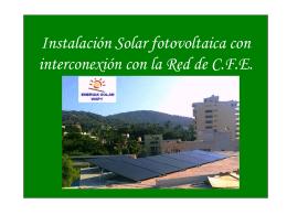 Instalación fotovoltaica con