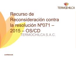 LICITACION DE SUMINISTRO DE ENERGÍA ELÉCTRICA –