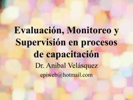 Evaluación, Monitoreo y Supervisión